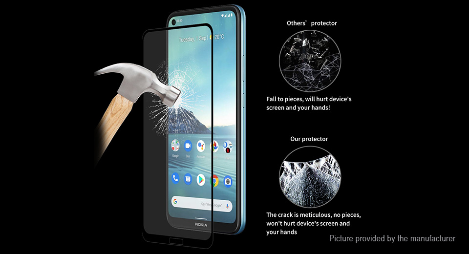 5PCS ENKAY Full Glue 2.5D Tempered Glass Screen Protector for Nokia 3.4