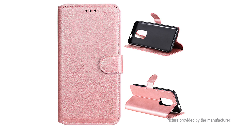 ENKAY ENK-PUC034 PU + TPU Protective Flip-open Stand Case Cover