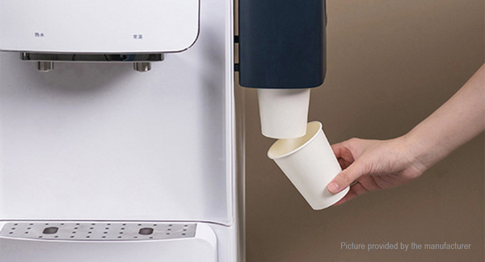 Self-adhesive Wall Mounted Double Tube Disposable Paper Cup Holder Dispenser