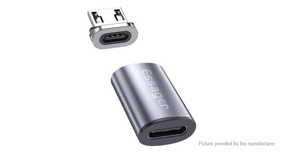 Essager USB-C to Micro-USB Magnetic Charging & Data Converter Adapter
