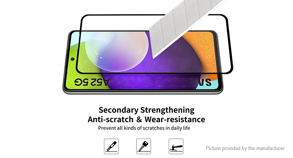 2PCS ENKAY 2.5D Tempered Glass Screen Protector for Samsung Galaxy A52 5G