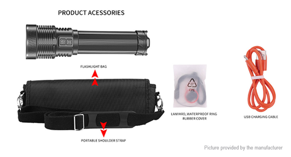 F405 1*LED 5-Mode 5000LM LED Flashlight