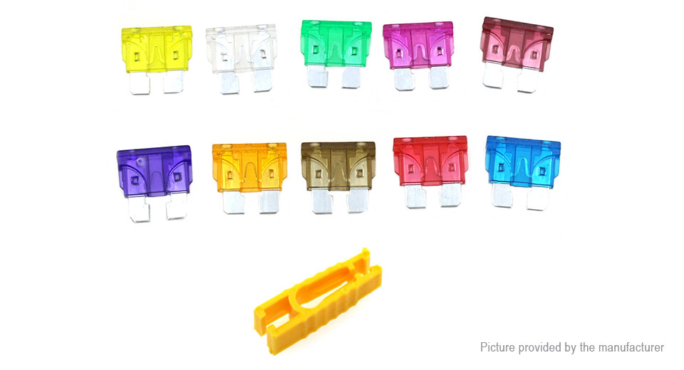 80PCS 3A-40A Standard Automotive Car Blade Fuse Assortment Set