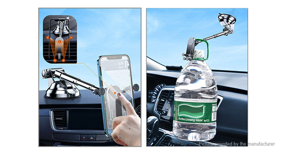 OATSBASF Car Dashboard Suction Cup Mount Gravity Linkage Phone Holder Stand