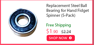 Replacement Steel Ball Bearing for Hand Fidget Spinner (5-Pack) was $2.24 now $1.90 (15% off) Free shipping