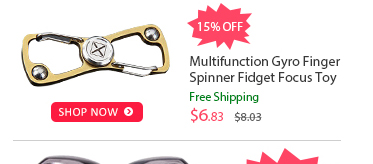 Multifunction Gyro Finger Spinner Fidget Focus Toy was $8.03 now $6.83 (15% off) Free shipping