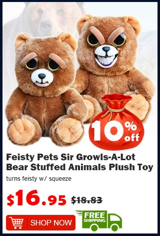 Feisty Pets Sir Growls-A-Lot Bear Stuffed Animals Plush Toy was $18.83 now $16.95 10% off (free shipping)