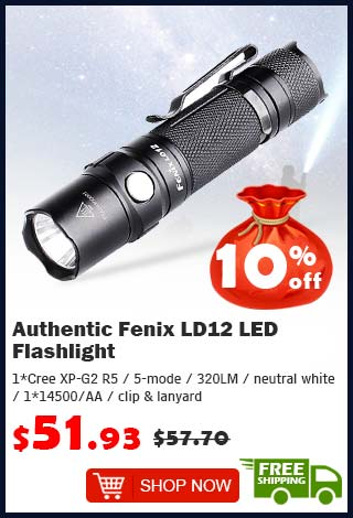 Authentic Fenix LD12 LED Flashlight was $57.70 now $51.93 10% off (free shipping)