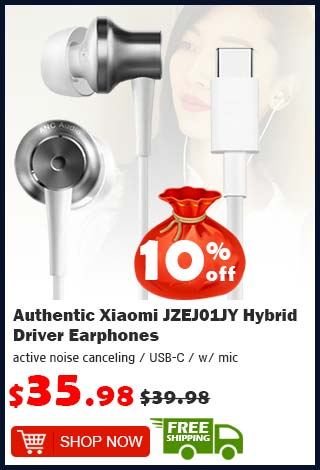 Authentic Xiaomi JZEJ01JY Hybrid Driver Earphones was $39.98 now $35.98 10% off (free shipping)