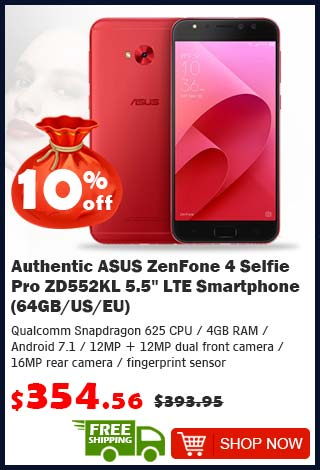 Authentic ASUS ZenFone 4 was $393.95 now $354.56 10% off (free shipping)