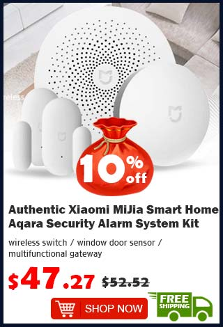 Authentic Xiaomi MiJia Smart Home Aqara Security Alarm System Kit was $52.52 now $47.27 10% off (free shipping)