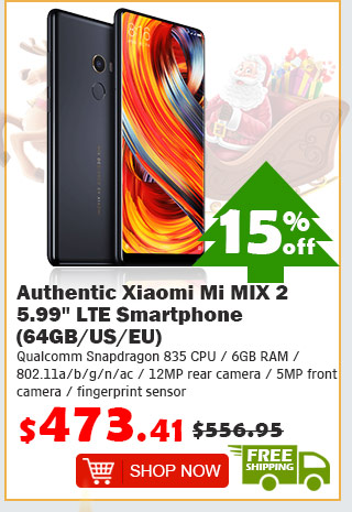 "Authentic Xiaomi Mi MIX 2 5.99"" LTE Smartphone (64GB/US) was $556.95 now $473.41 15% off free shipping"