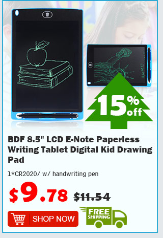 "BDF 8.5"" LCD E-Note Paperless Writing Tablet Digital Kid Drawing Pad was $11.54 now $9.78 15% off free shipping"