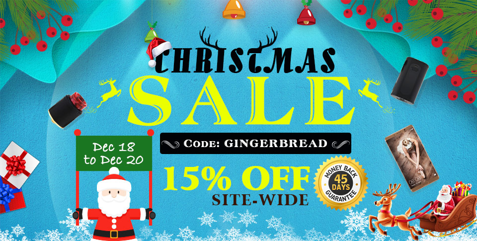 Christmas sale code: GINGERBREAD 15% off site-wide Dec 18 to Dec 20